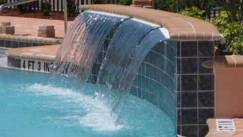 Sheer Pool Fountains